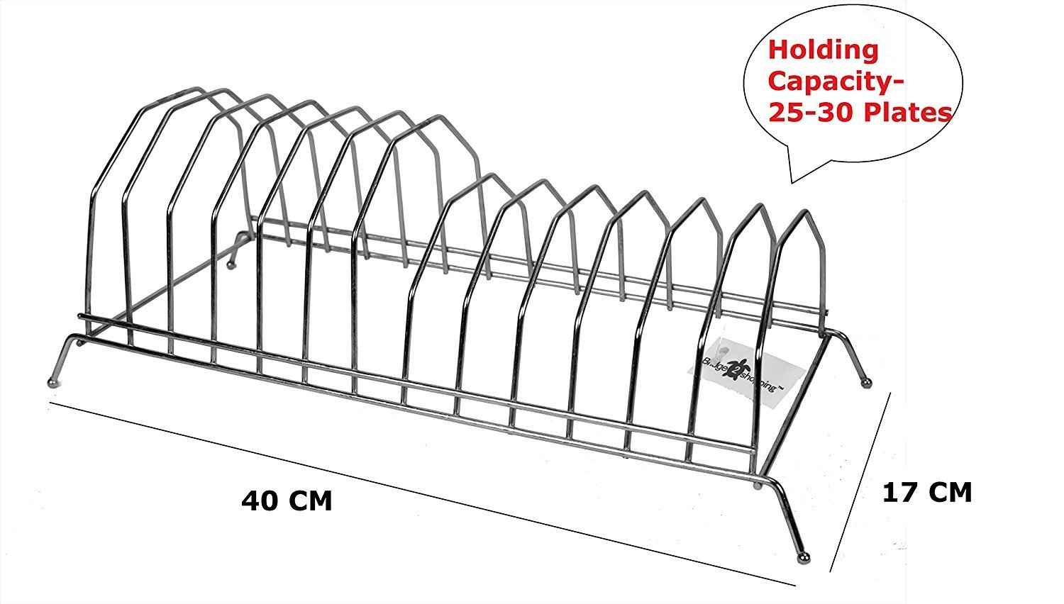 Stainless Steel Plate Stand ...  sc 1 st  Bridge 2 Shopping & Stainless Steel Plate Stand (Utensil Rack) - Bridge 2 Shopping